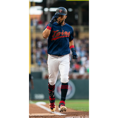 Photo of Eddie Rosario Game-Used Home Navy Jersey