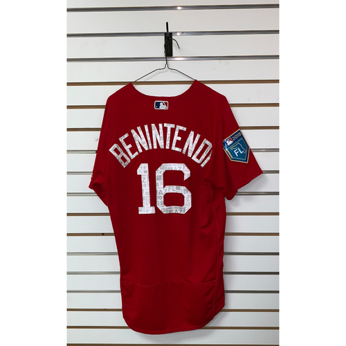 Photo of Andrew Benintendi Team Issued 2018 Spring Training Jersey