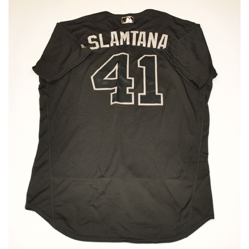 "Photo of Carlos ""Slamtana"" Santana Cleveland Indians Game-Used 2019 Players' Weekend Jersey"