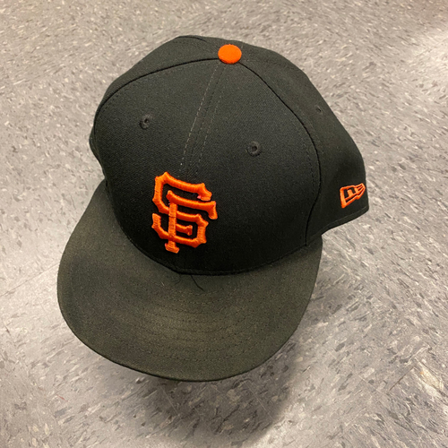 Photo of 2019 Game Used Cap worn by #74 Jandel Gustave on 9/29 vs. Los Angeles Dodgers - Bochy's Final Game - Size 7 3/4