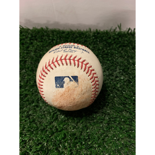 Photo of Pete Alonso Game Used Hit Single Baseball - August 15, 2019