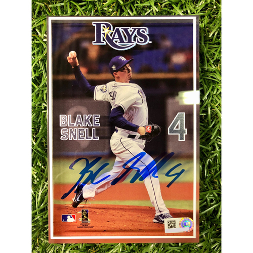 Photo of Rays Baseball Foundation: Autographed 3D Player Block - Blake Snell
