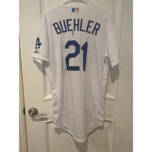 Photo of Walker Buehler Game Used BLM 2020 Opening Day Jersey