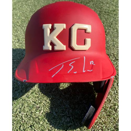 Photo of Autographed/Game-Used Monarchs Helmet: Jorge Soler #12 (STL @ KC 9/22/20) - Size 7 1/4