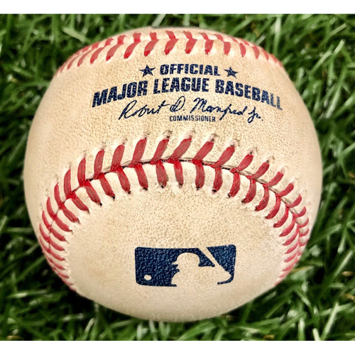 Photo of Game Used Baseball: Yoshitomo Tsutsugo foul ball off Aaron Nola - Yoshitomo Tsutsugo Rookie Season - September 27, 2020 v PHI
