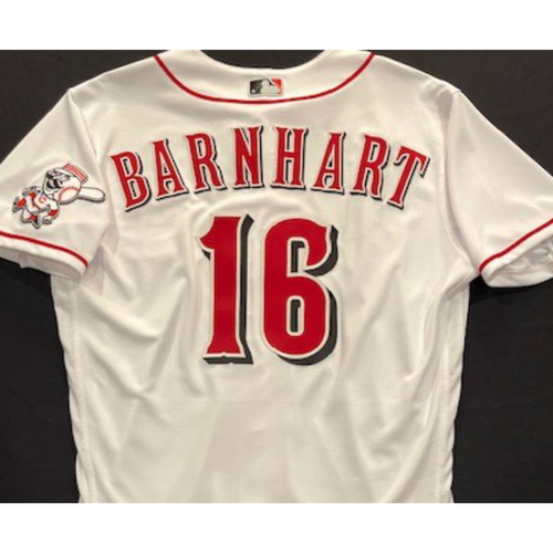 Photo of Tucker Barnhart -- 2020 Home White Jersey -- Team Issued -- Size 44