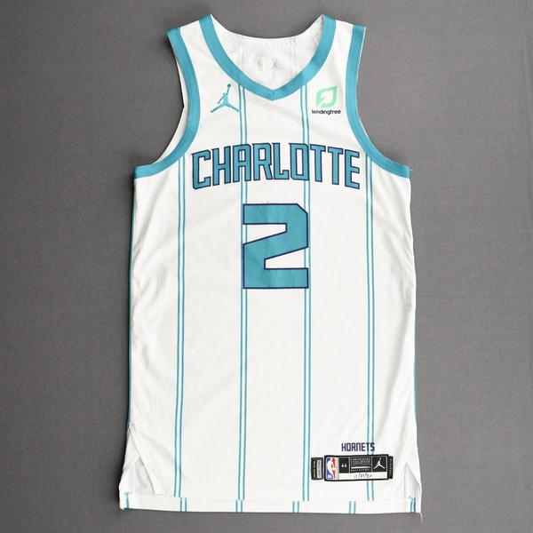 Image of LaMelo Ball - Charlotte Hornets - Kia NBA Tip-Off 2020 - Game-Worn Association Edition Jersey - NBA Debut (3rd Overall Draft Pick)