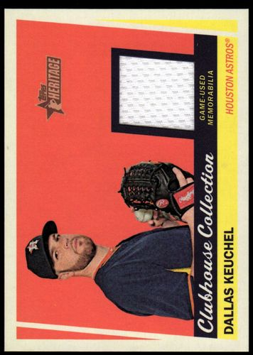 Photo of 2016 Topps Heritage Clubhouse Collection Relics #CCRDK Dallas Keuchel