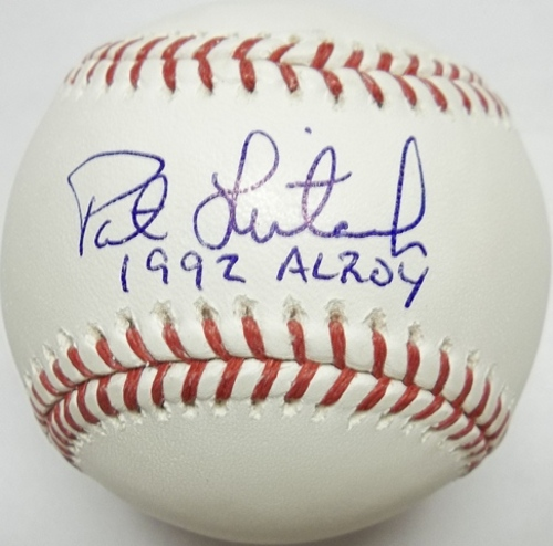 "Photo of Pat Listach ""92 AL ROY"" Autographed Baseball"
