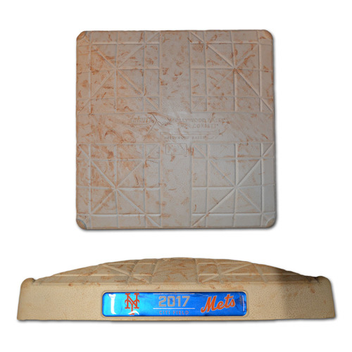 Photo of Game Used 3rd Base - Innings 4-6 - d'Arnaud Hits 3-Run HR - Mets vs. Nationals - 9/22/17