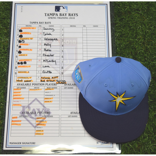 Photo of 2018 Spring Training Game Used Cap: Johnny Field