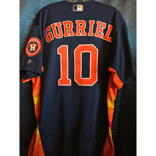 Photo of 2018 Game-Used Yuli Gurriel Sunday Alternate Jersey
