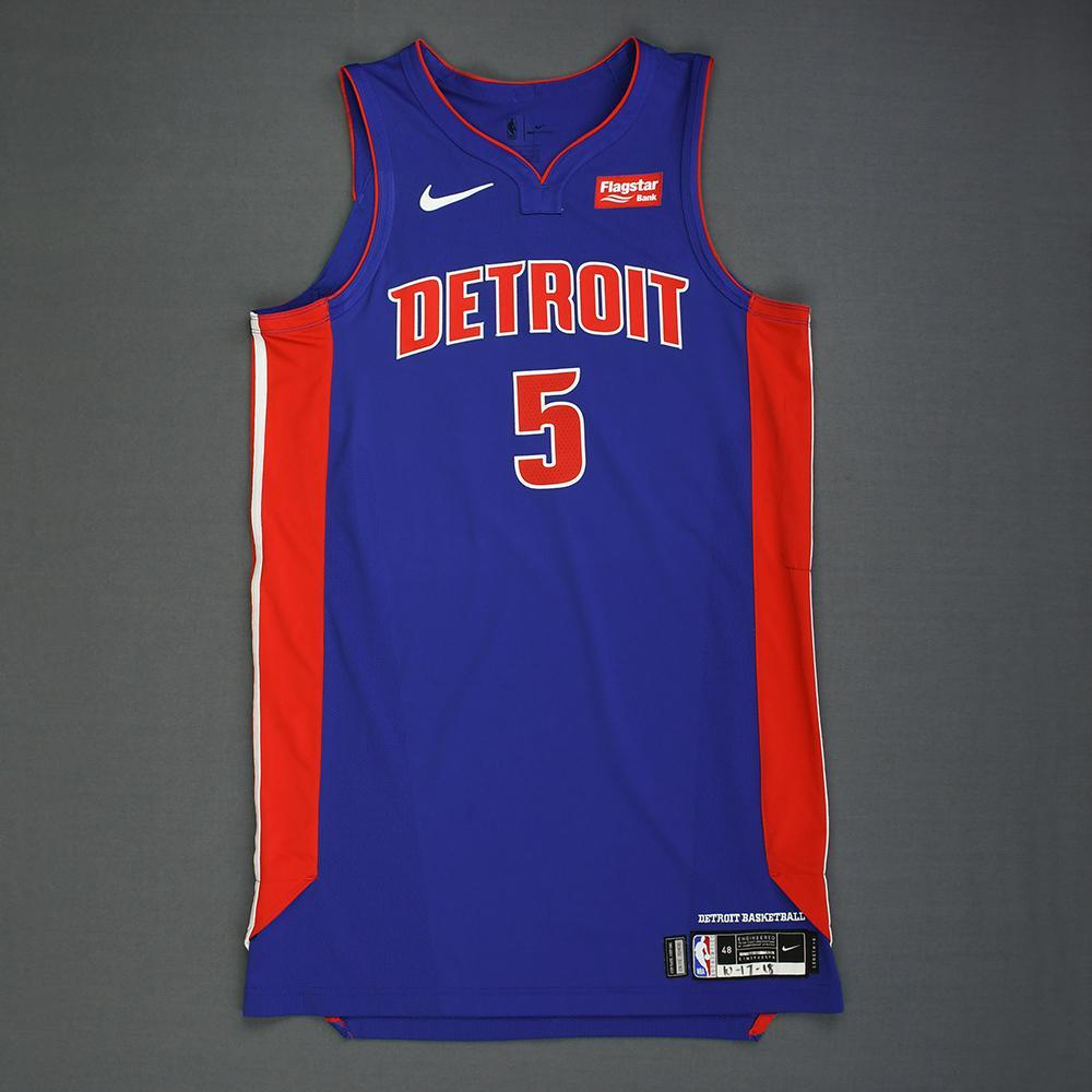Luke Kennard - Detroit Pistons - Kia NBA Tip-Off 2018 - Game-Worn Icon Edition Jersey