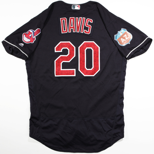 Photo of 2016  Spring Training -  Game-Used Jersey - Rajai Davis (Indians) - Size 46