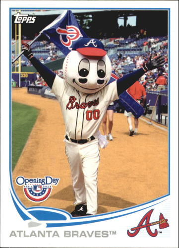 Photo of 2013 Topps Opening Day Mascots #M13 Atlanta Braves