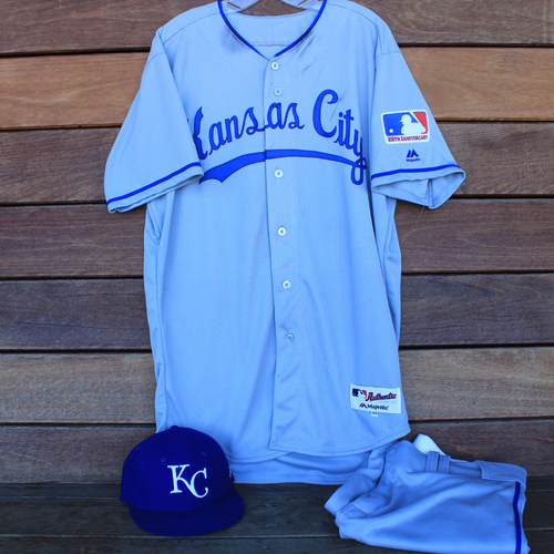 Game-Used 1969 Throwback Jersey, Pants and Cap: Jorge Soler 329th Career Hit (Jersey Size 44 - KC @ WSH  - 7/6/19)