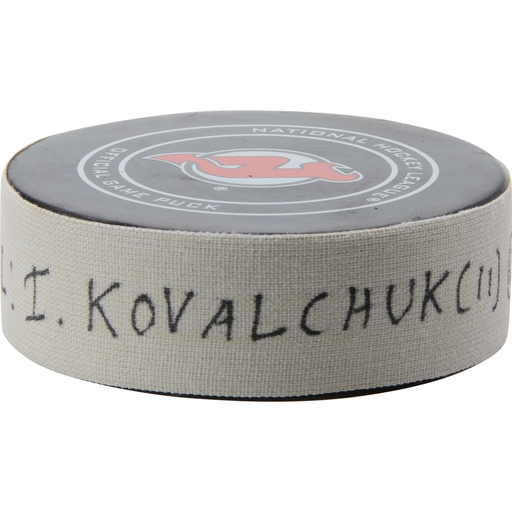 Ilya Kovalchuk Los Angeles Kings Game-Used Goal Puck from February 5, 2019 @ New Jersey Devils