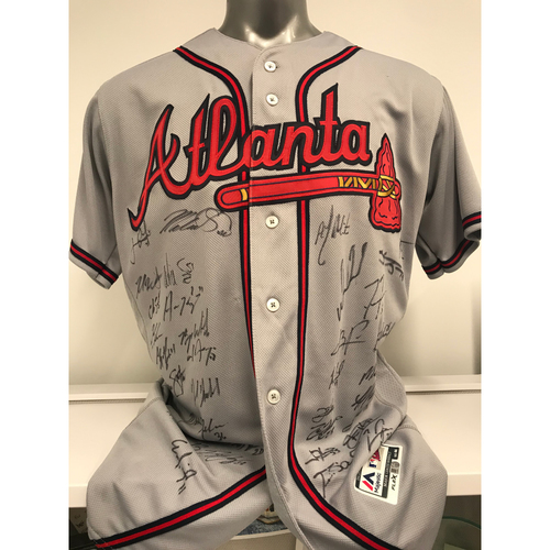 Photo of 2020 Team MLB Authenticated Autographed Grey Atlanta Braves Away (Size 44) Jersey