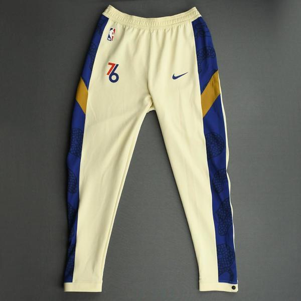 Image of Tobias Harris - Philadelphia 76ers - Game-Issued Earned Edition Game Theater Pants  - 2019-20 NBA Season