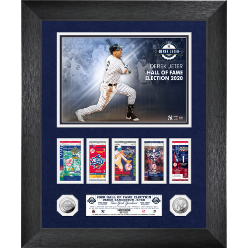 Photo of Derek Jeter 2020 HOF Induction WS Marquee Silver Coin Photo Mint
