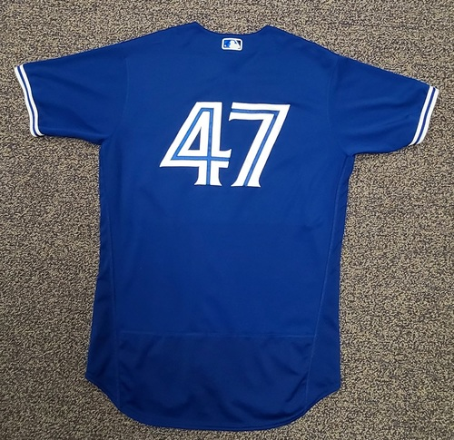 Photo of Authenticated Team Issued Spring Training Jersey: #47 (2021 Season). Size 46.