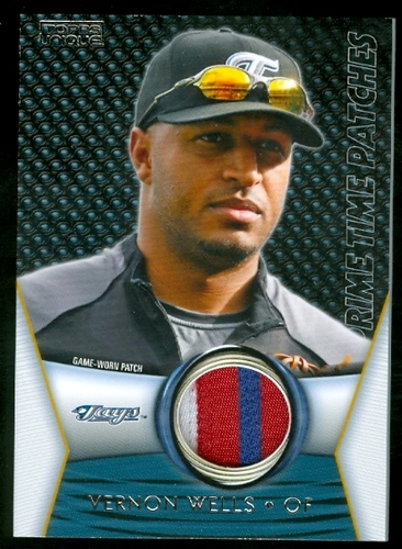 Photo of 2009 Topps Unique Primetime Patches #PTP66 Vernon Wells/75