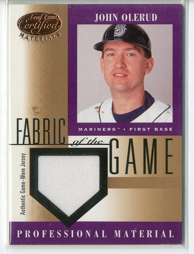Photo of 2001 Leaf Certified Materials Fabric of the Game #116BA John Olerud