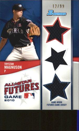Photo of 2011 Bowman Future's Game Triple Relics #TM Trystan Magnuson