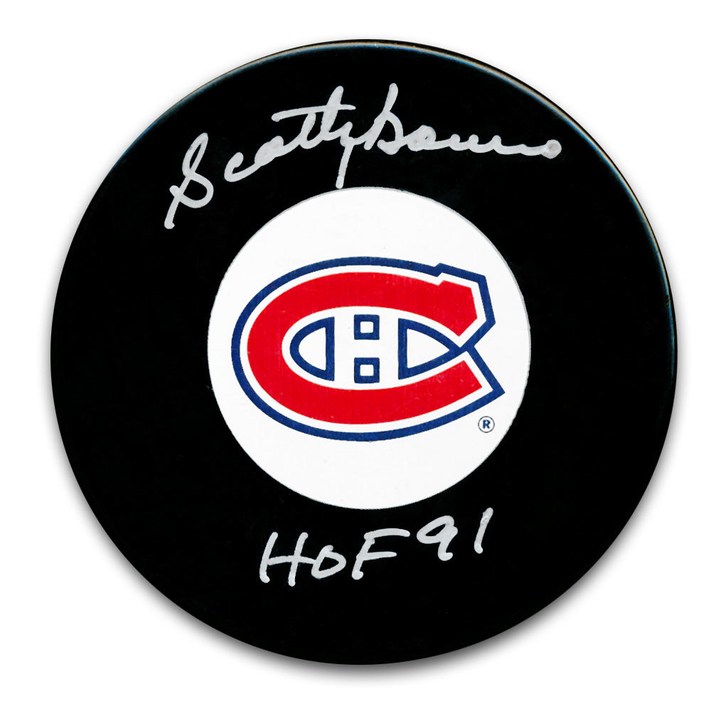 Scotty Bowman Montreal Canadiens HOF Autographed Puck