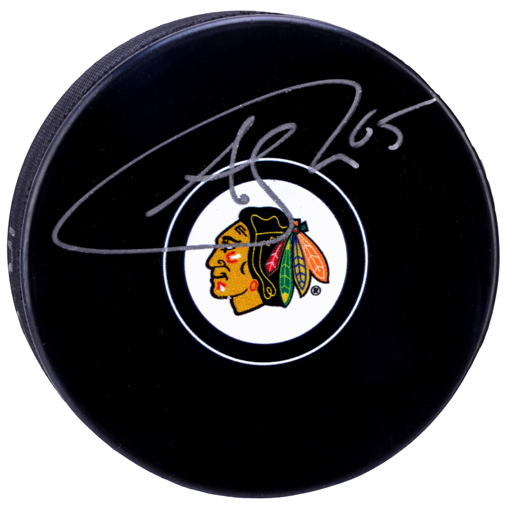 Andrew Shaw Chicago Blackhawks Autographed Hockey Puck