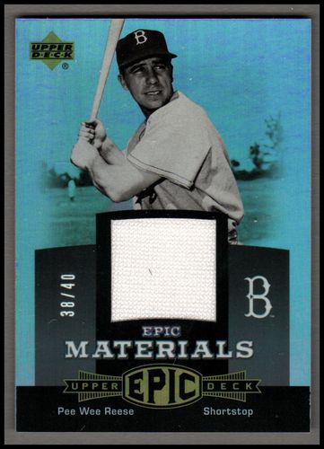 Photo of 2006 Upper Deck Epic Materials Grey #PR1 Pee Wee Reese Jsy/40