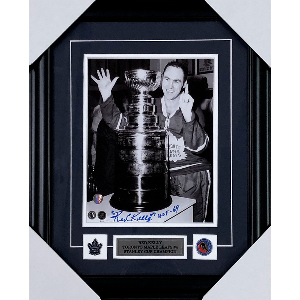 Red Kelly Autographed Toronto Maple Leafs Framed 8X10 Photo