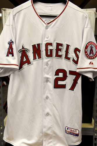 factory price 2b523 70bf6 MLB Auctions   Angels Authentics: Mike Trout 2014 Opening ...
