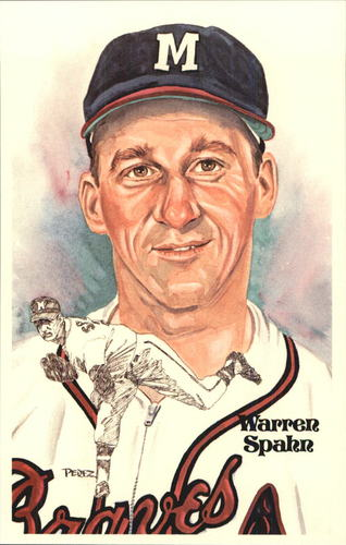 Photo of 1980-02 Perez-Steele Hall of Fame Postcards #139 Warren Spahn -- HOF Class of 1973