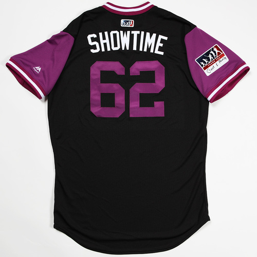 "Photo of Yency  ""ShowTime"" Almonte Colorado Rockies Team-Issued 2018 Players' Weekend Jersey"