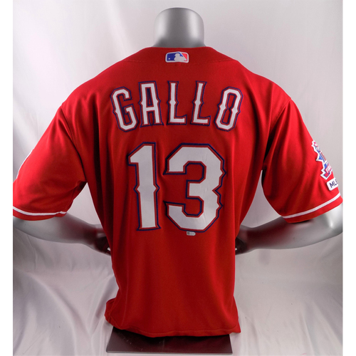 Game-Used Red Jersey - Joey Gallo HR (2RBI) - 3/30/19