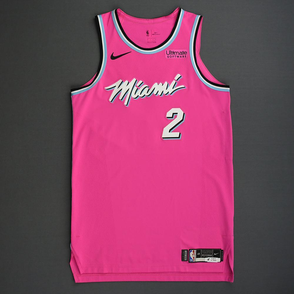 Wayne Ellington - Miami Heat - 2018-19 Season - Game-Worn Pink Earned Edition Jersey - Dressed, Did Not Play