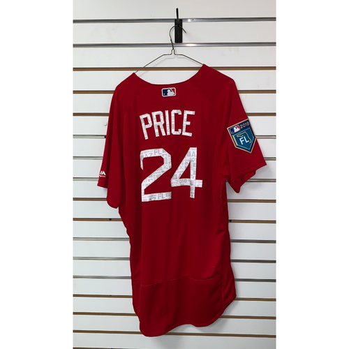 Photo of David Price Team Issued 2018 Spring Training Jersey