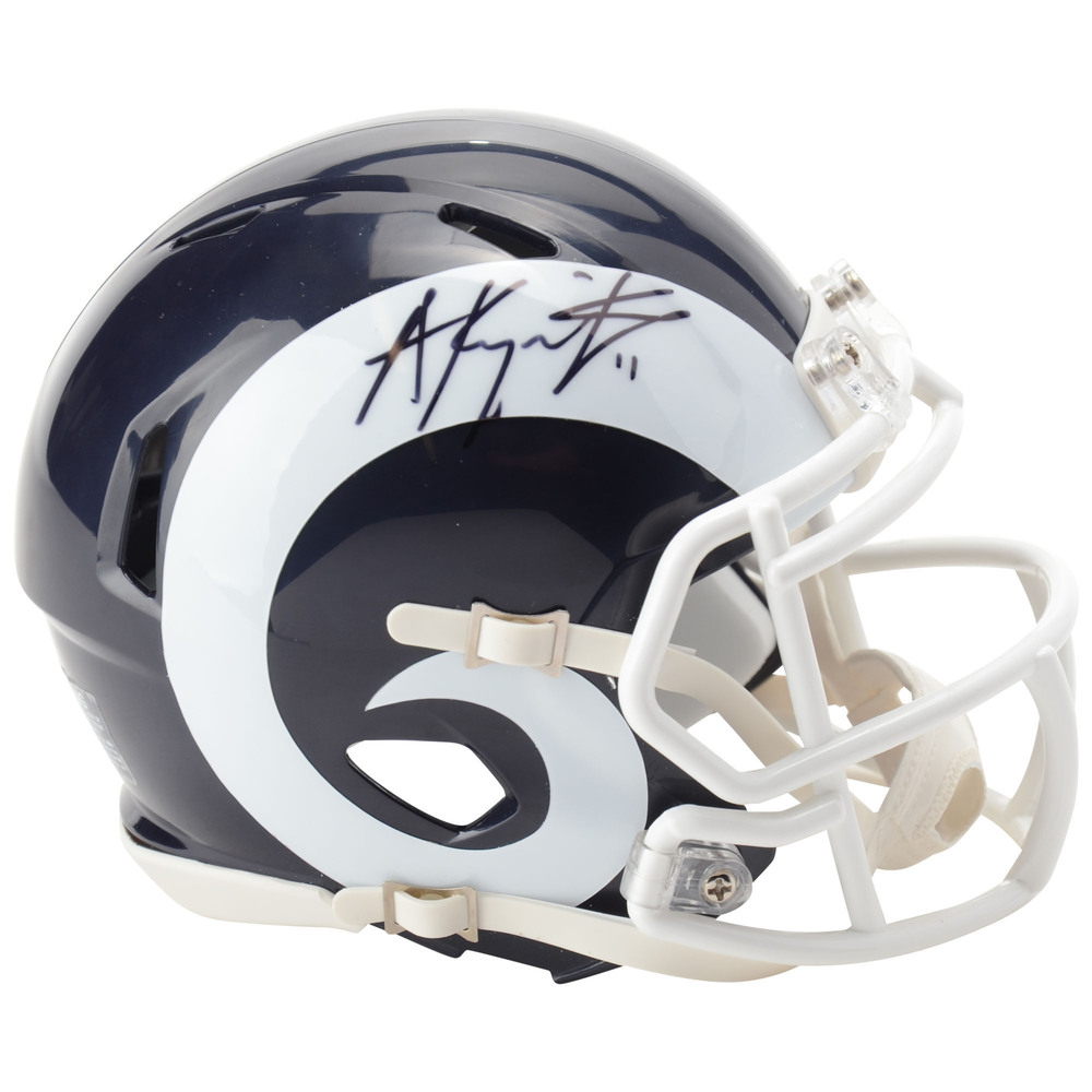 Anze Kopitar Los Angeles Kings Autographed Los Angeles Rams Mini Helmet