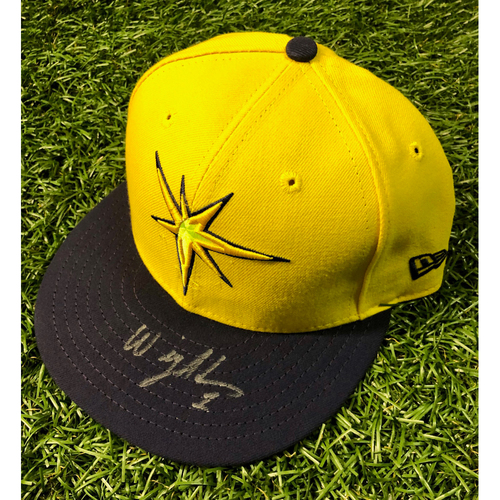 Photo of Rays Baseball Foundation: Team Issued Autographed Player's Weekend Cap: Willy Adames (Rookie Season)
