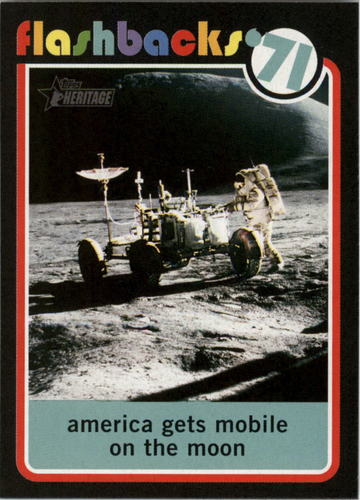 Photo of 2020 Topps Heritage News Flashbacks #NF13 Lunar Roving Vehicle used on moon