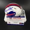 Bills - Ed Oliver Signed Mini Helmet
