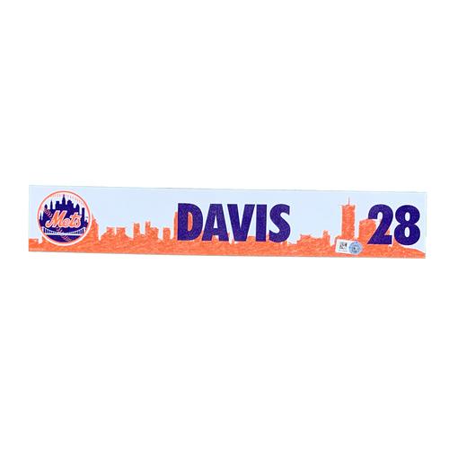 Photo of J.D. Davis #28 - Team Issued Locker Nameplate - 2021 Spring Training