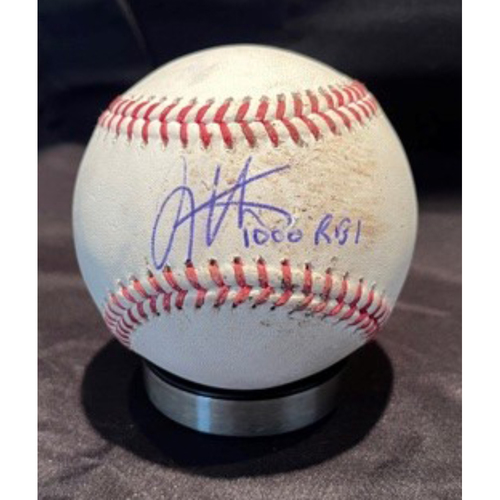 Photo of Joey Votto *Game-Used, Autographed & Inscribed* Baseball from 1,000th Career RBI Game - Vladimir Gutierrez to Tommy Pham (Ball) -- 06/30/2021 - SD vs. CIN - Top 5