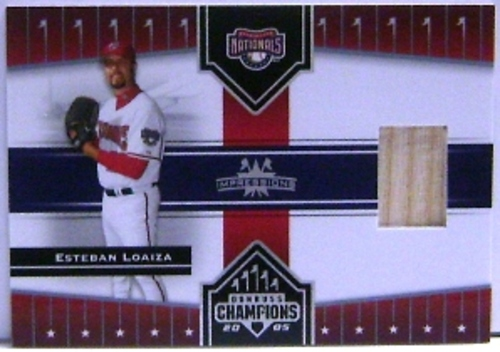 Photo of 2005 Donruss Champions Impressions Material #185 Esteban Loaiza Bat T3