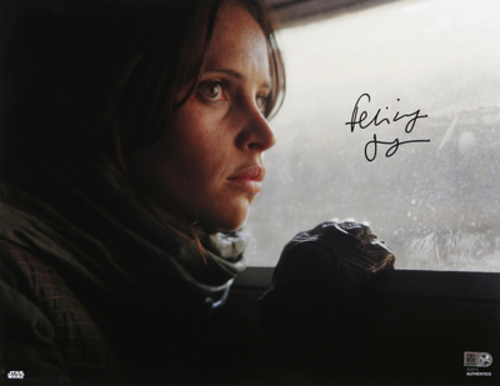 Felicity Jones as Jyn Erso Autographed in Black Ink 11x14 Photo