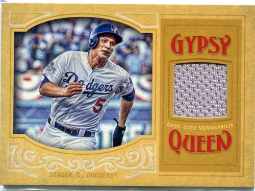Photo of 2016 Topps Gypsy Queen Relics Gold Corey Seager 20/50