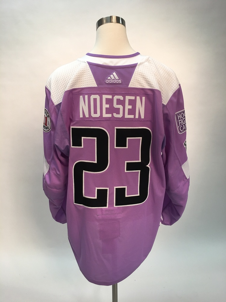 premium selection be7a4 80681 Stefan Noesen Hockey Fights Cancer Warm-Up Worn Autographed ...