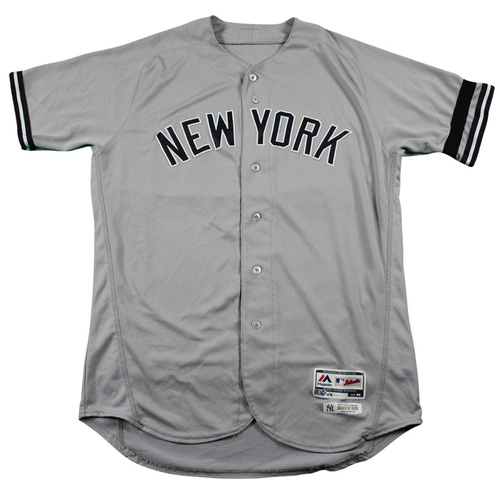 Photo of Bryan Mitchell New York Yankees 2017 Team Issued # 66 Road Jersey. Jersey Size - 46