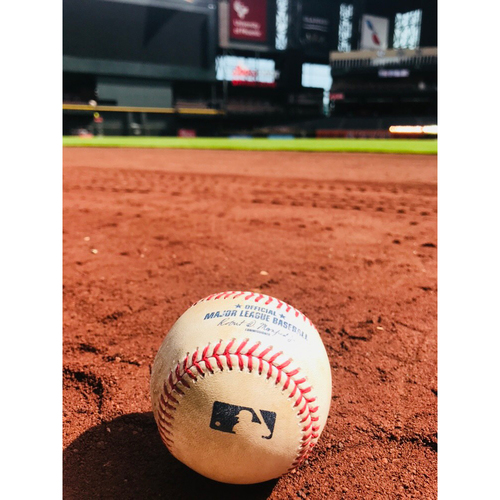 Photo of Game-Used Baseball: Anthony Banda Major League Debut Game- Used Ball vs. Harper, Zimmerman ARI-WAS 7/22/17